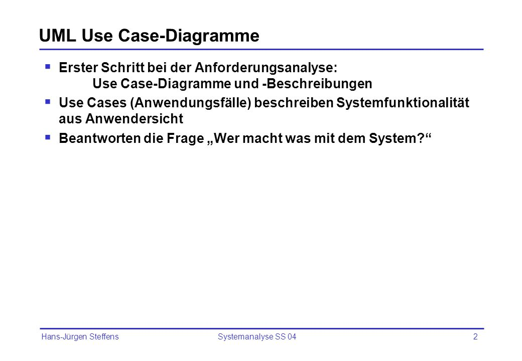 UML Use Case-Diagramme