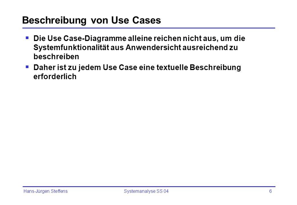 Beschreibung von Use Cases
