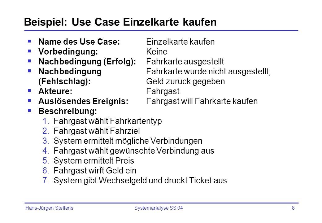 Beispiel: Use Case Einzelkarte kaufen