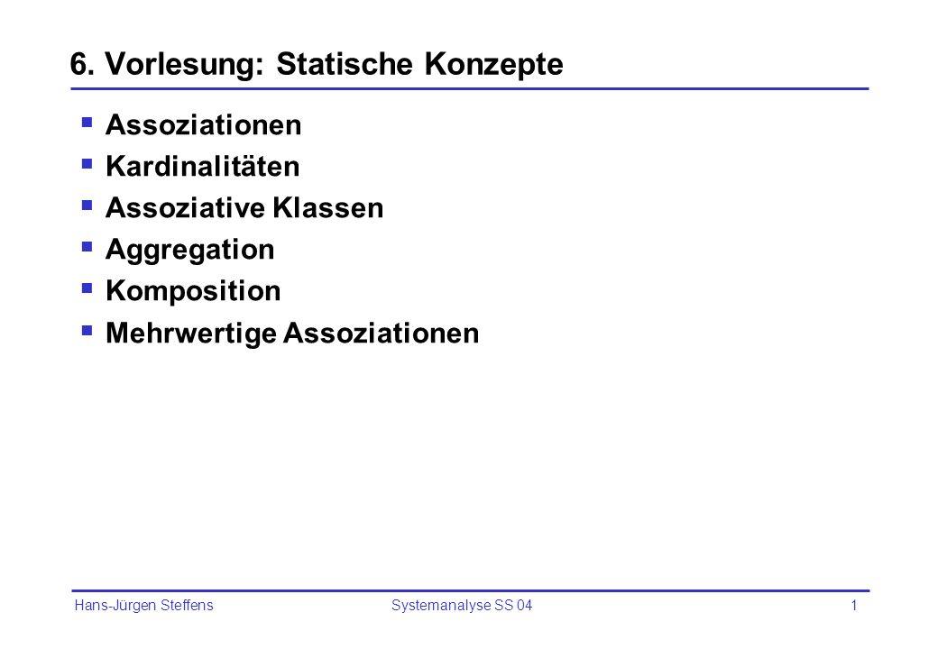 6. Vorlesung: Statische Konzepte