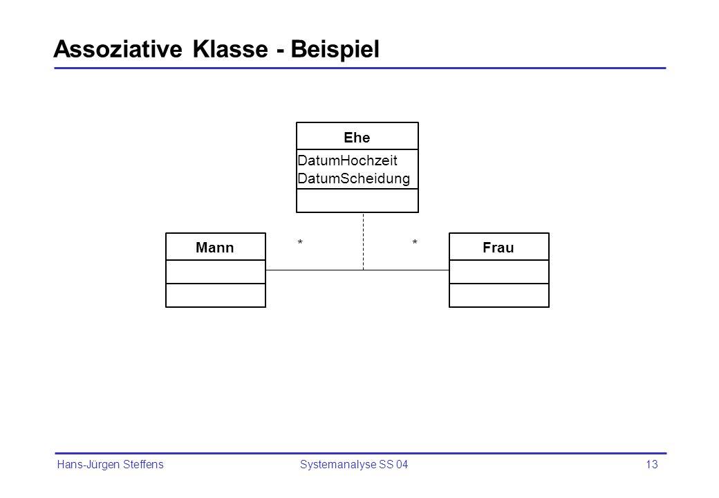 Assoziative Klasse - Beispiel