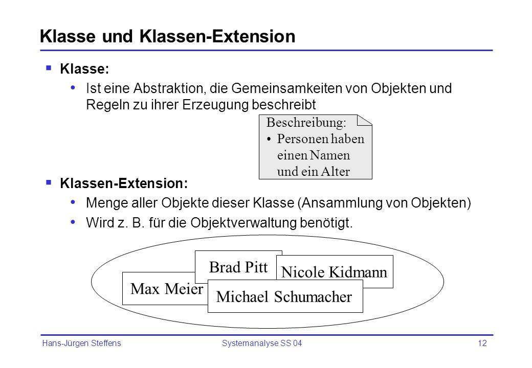 Klasse und Klassen-Extension