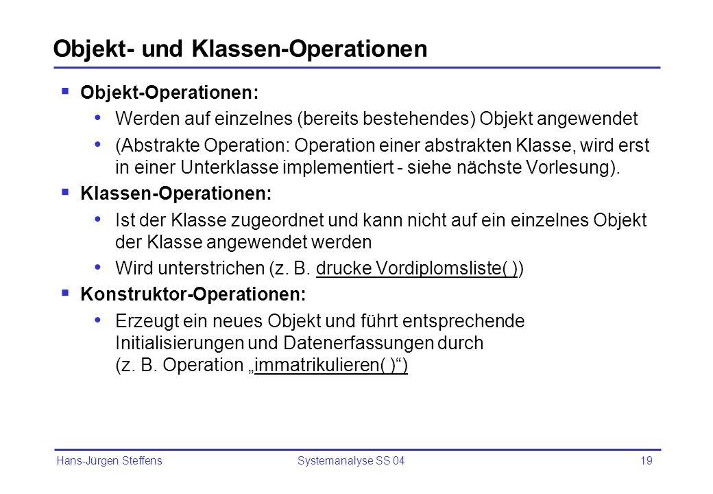 Objekt- und Klassen-Operationen