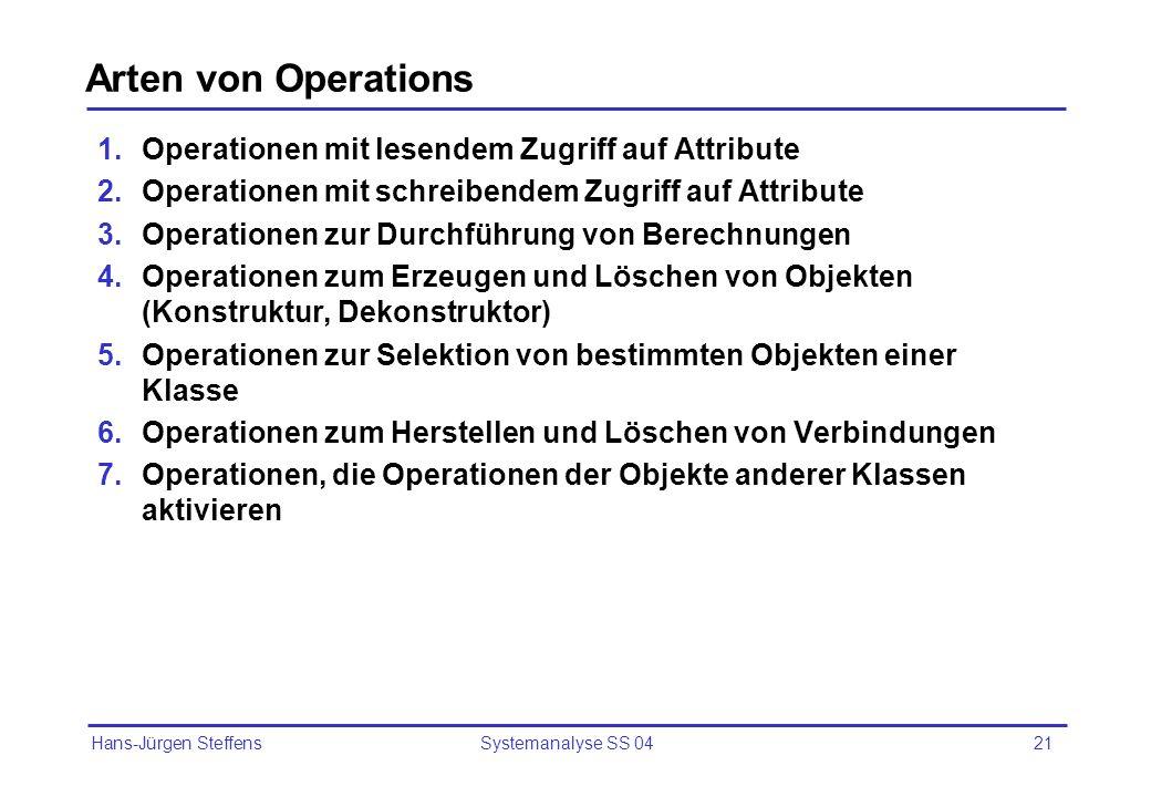 Arten von Operations Operationen mit lesendem Zugriff auf Attribute