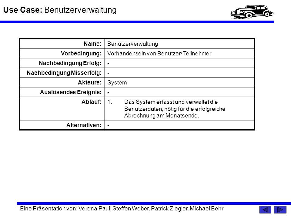 Use Case: Benutzerverwaltung