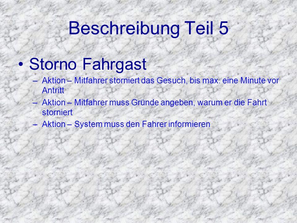 Beschreibung Teil 5 Storno Fahrgast