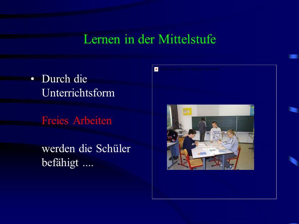 Lernen in der Mittelstufe