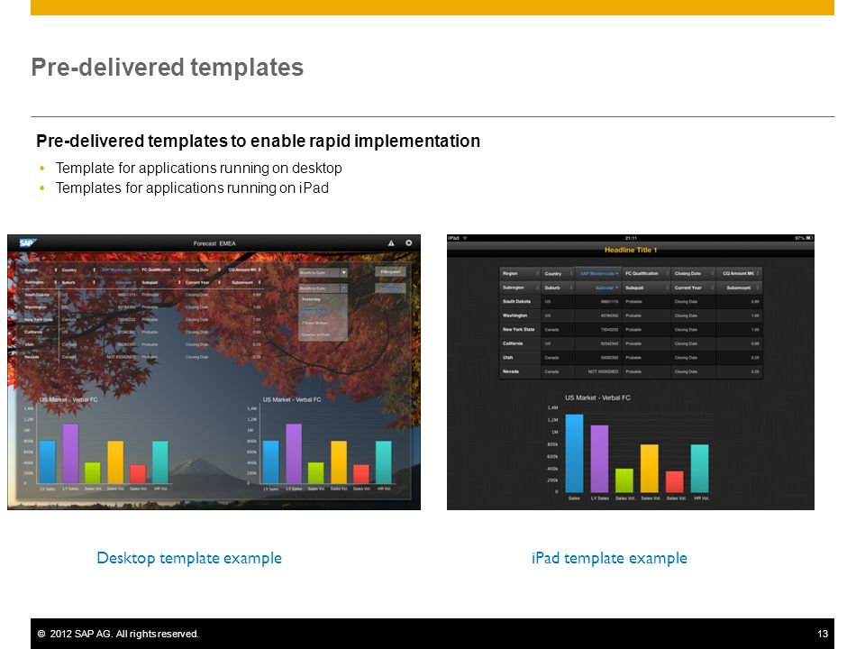 Pre-delivered templates