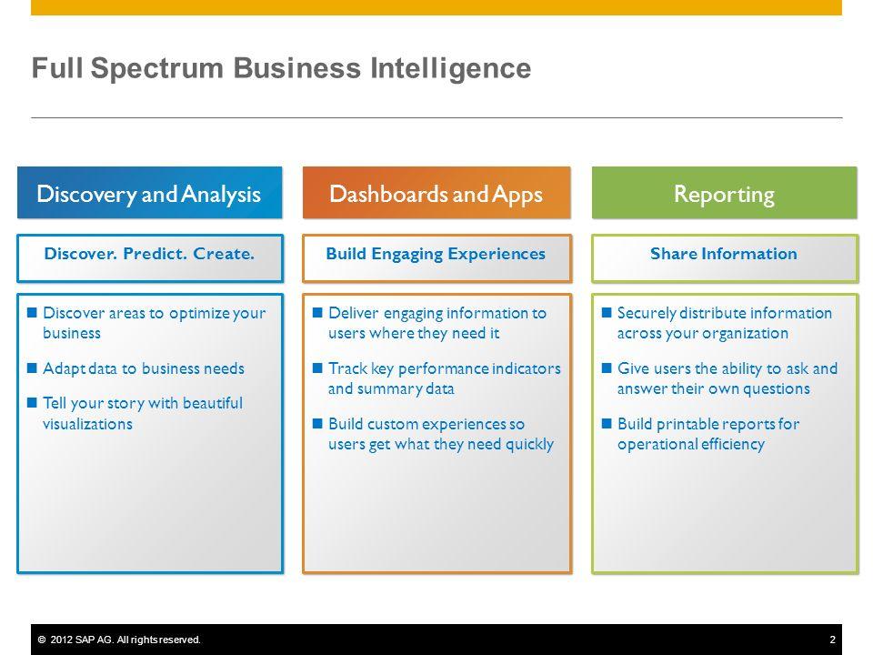 Full Spectrum Business Intelligence