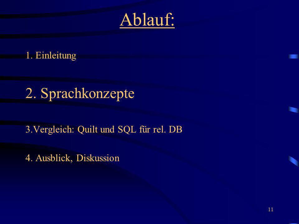 Ablauf: 2. Sprachkonzepte 1. Einleitung