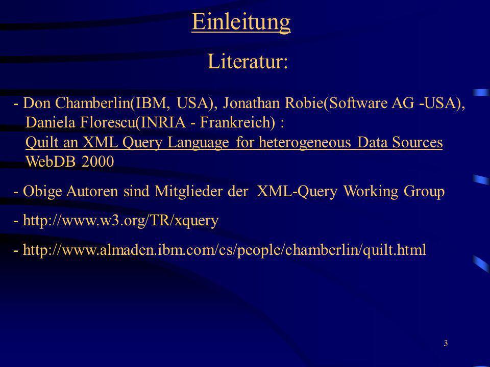 Einleitung Literatur: