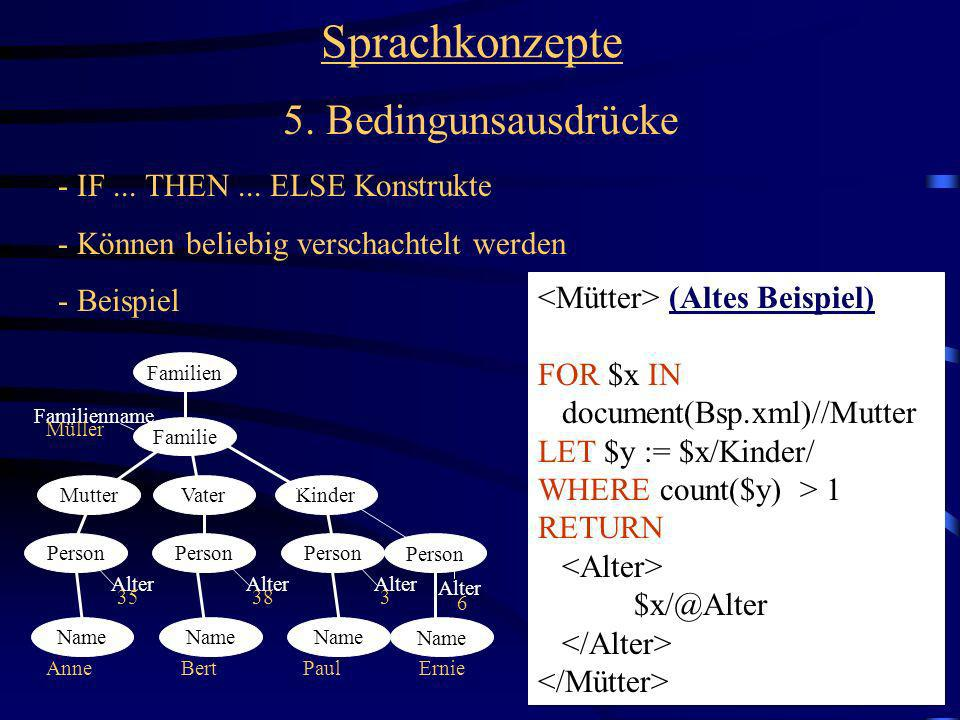 Sprachkonzepte 5. Bedingunsausdrücke - IF ... THEN ... ELSE Konstrukte