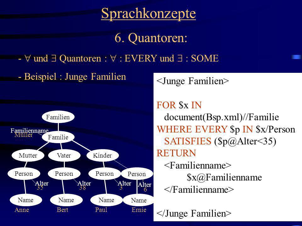 Sprachkonzepte 6. Quantoren: