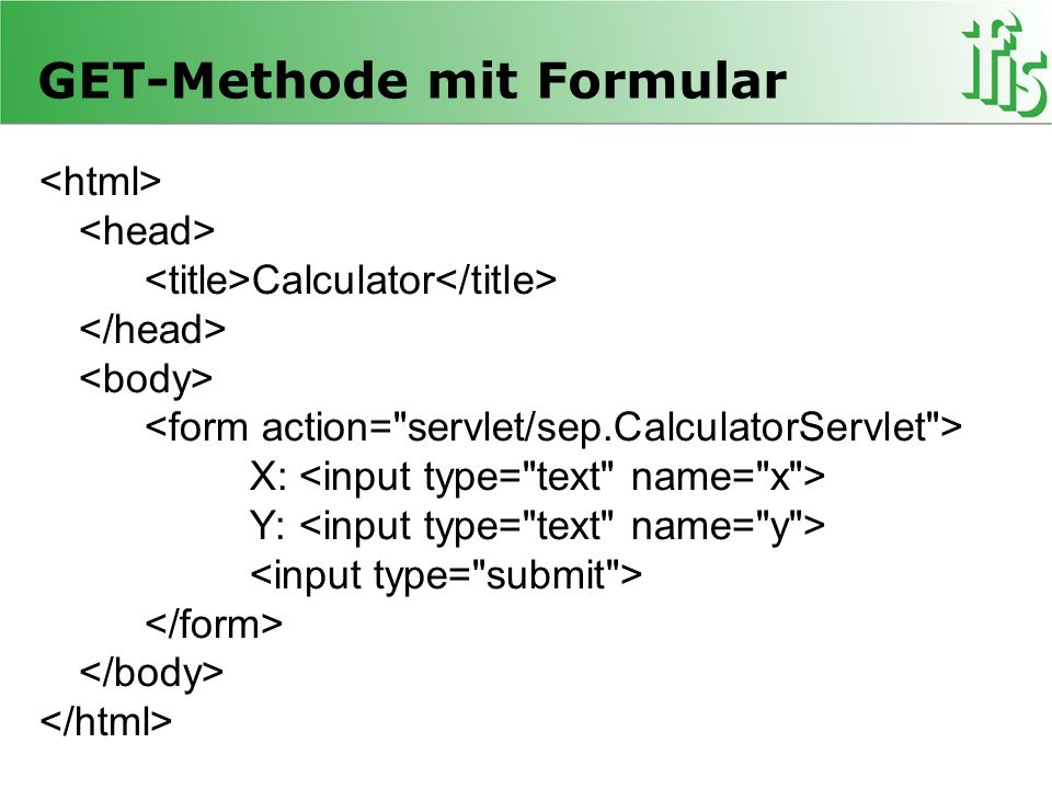 GET-Methode mit Formular