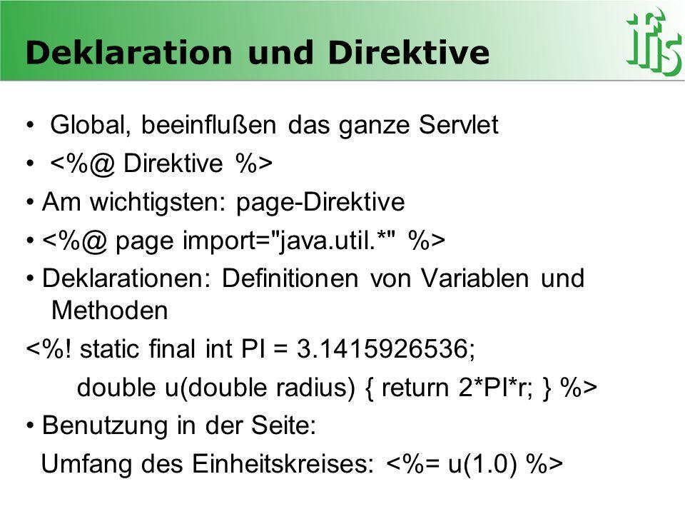 Deklaration und Direktive