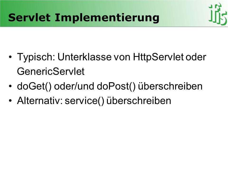Servlet Implementierung