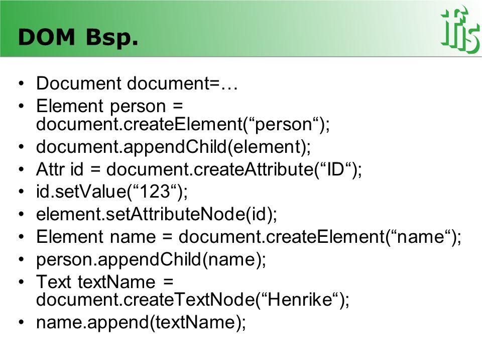DOM Bsp. Document document=…