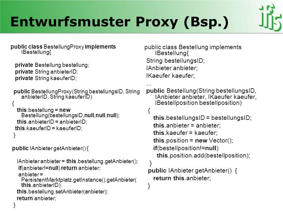 Entwurfsmuster Proxy (Bsp.)