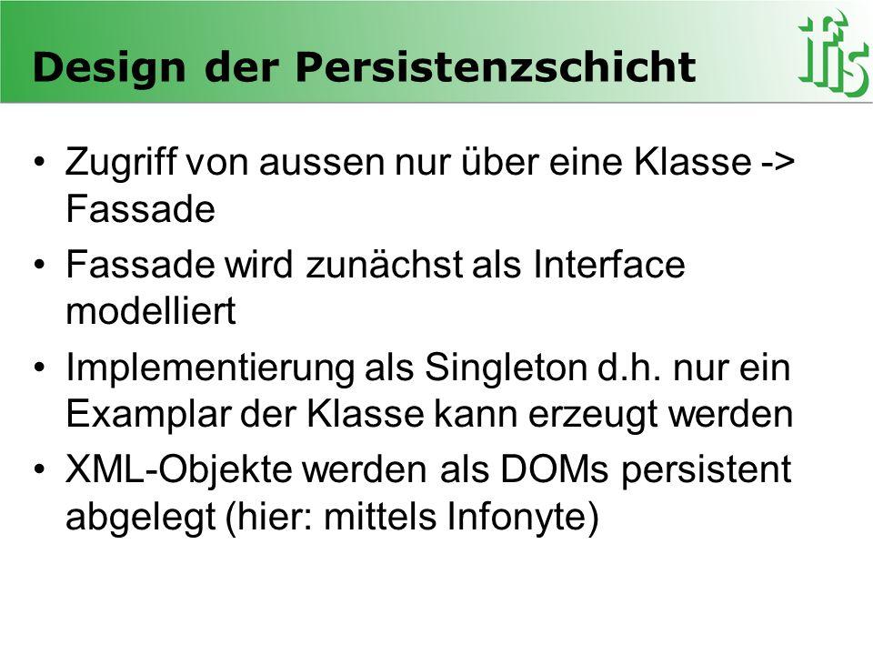 Design der Persistenzschicht