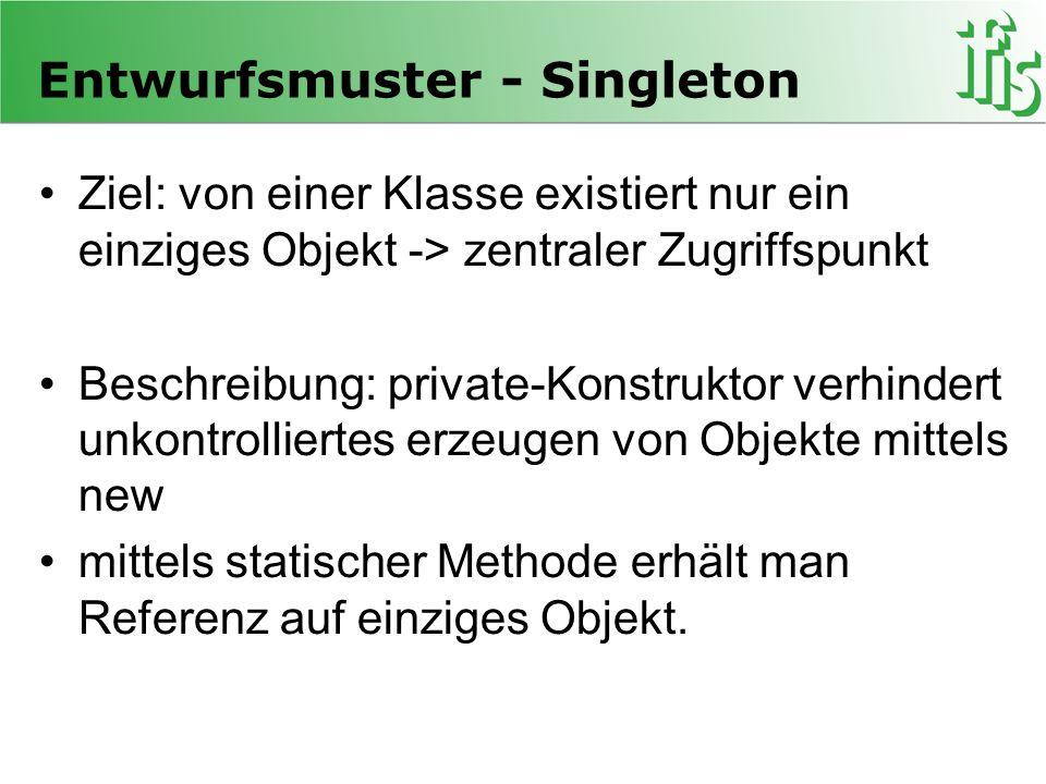 Entwurfsmuster - Singleton