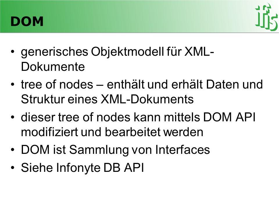 DOM generisches Objektmodell für XML-Dokumente