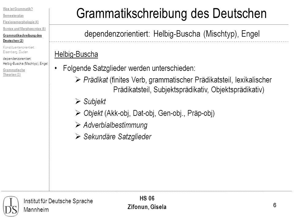 Grammatikschreibung des Deutschen