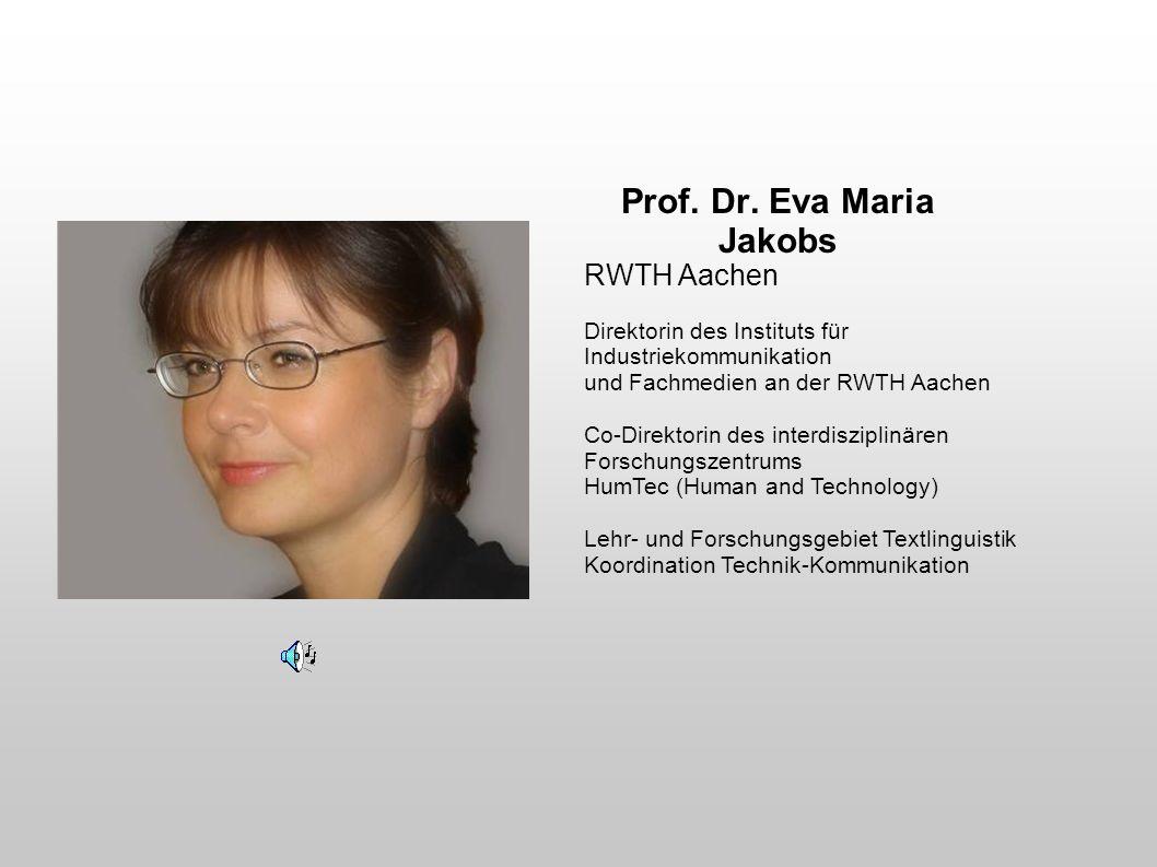 Prof. Dr. Eva Maria Jakobs