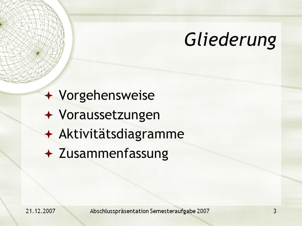 Abschlusspräsentation Semesteraufgabe 2007