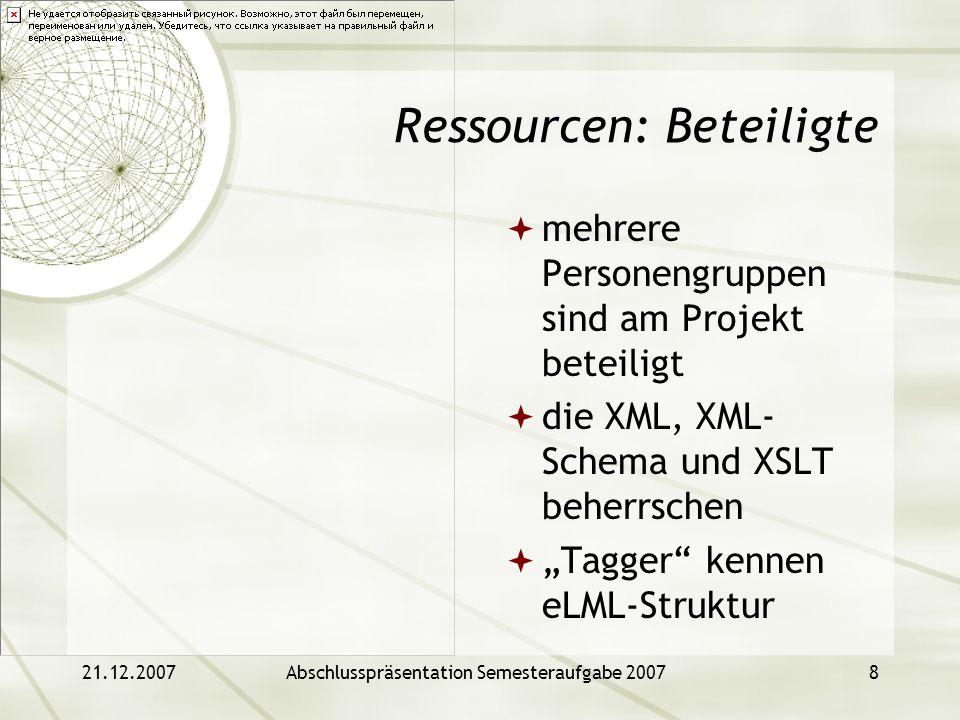 Ressourcen: Beteiligte