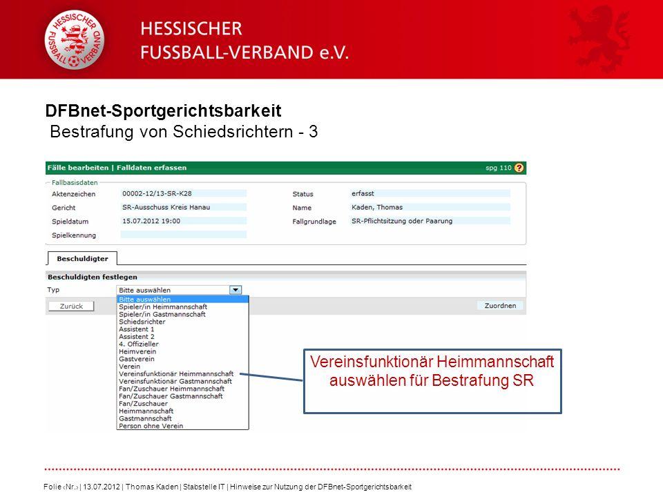 DFBnet-Sportgerichtsbarkeit Bestrafung von Schiedsrichtern - 3