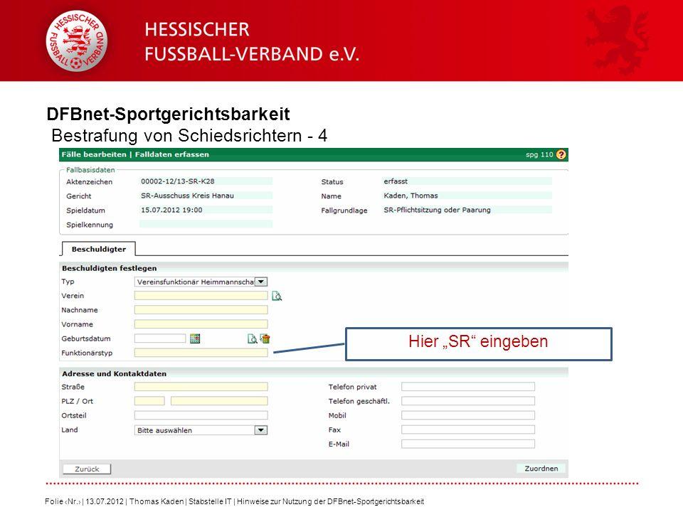 DFBnet-Sportgerichtsbarkeit Bestrafung von Schiedsrichtern - 4