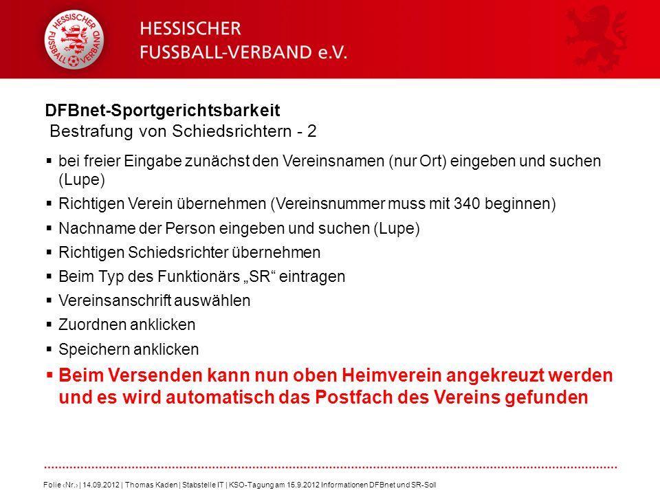 DFBnet-Sportgerichtsbarkeit Bestrafung von Schiedsrichtern - 2