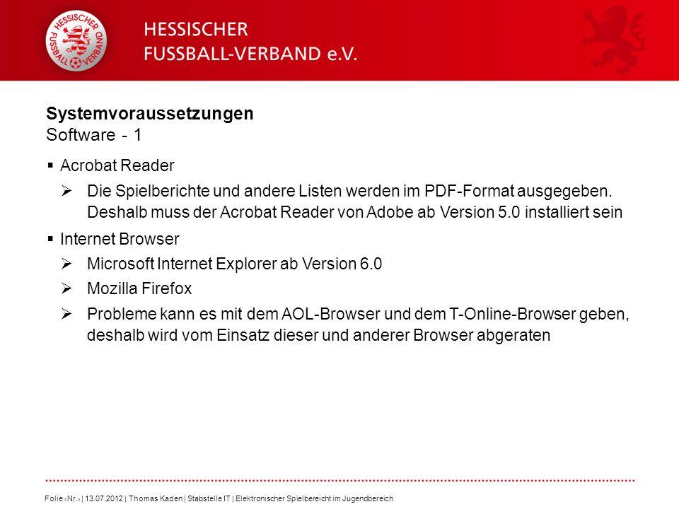 Systemvoraussetzungen Software - 1