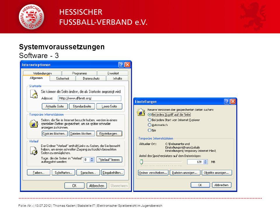 Systemvoraussetzungen Software - 3
