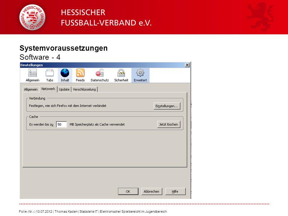 Systemvoraussetzungen Software - 4