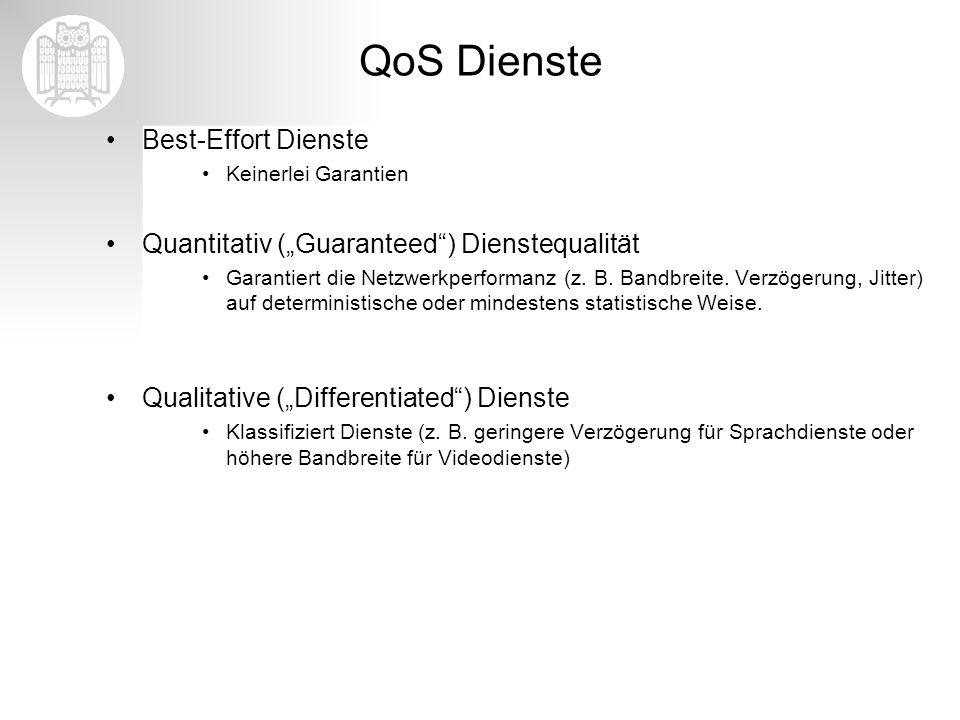 QoS Dienste Best-Effort Dienste