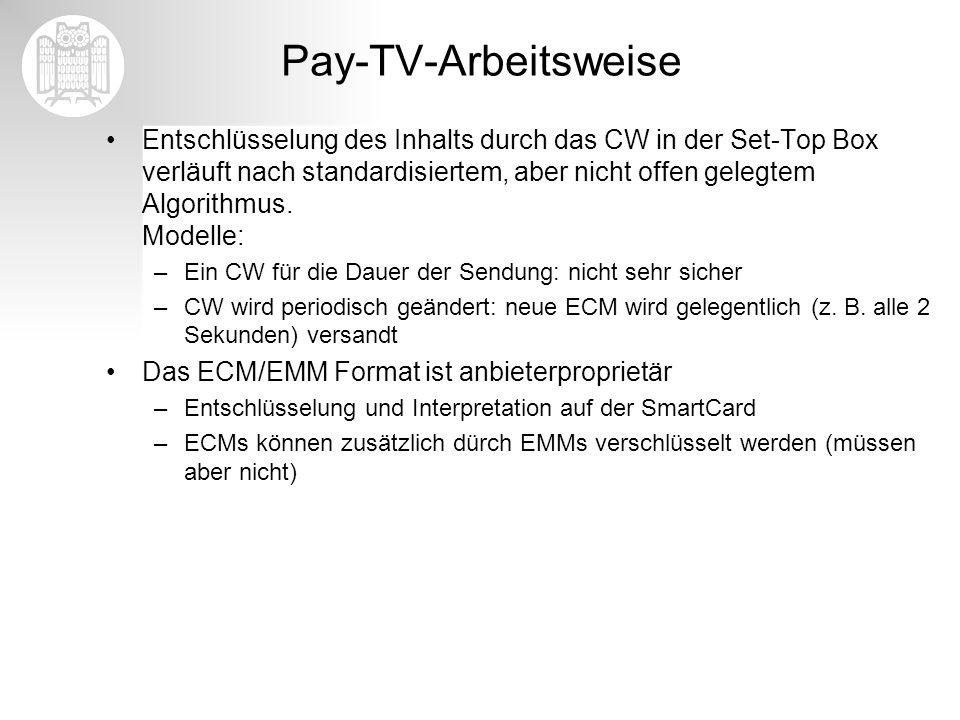 Pay-TV-Arbeitsweise