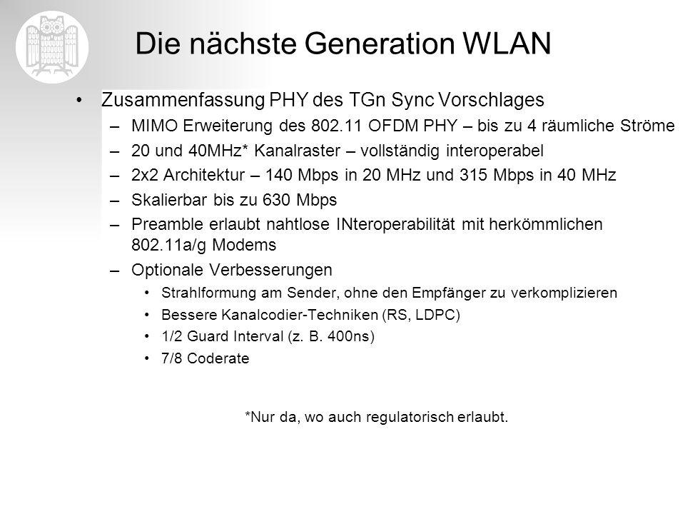Die nächste Generation WLAN
