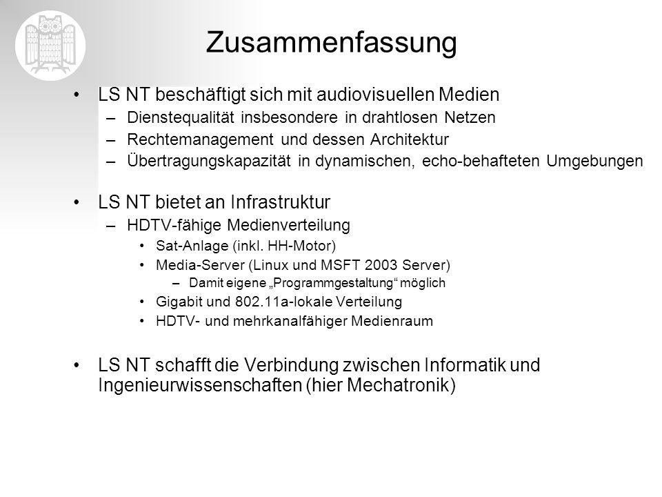 Zusammenfassung LS NT beschäftigt sich mit audiovisuellen Medien