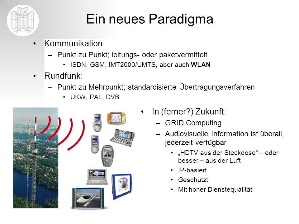 Ein neues Paradigma Kommunikation: Rundfunk: In (ferner ) Zukunft: