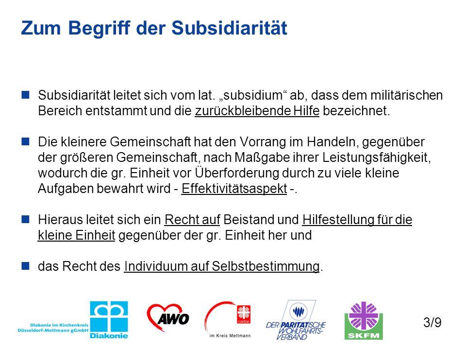 Zum Begriff der Subsidiarität