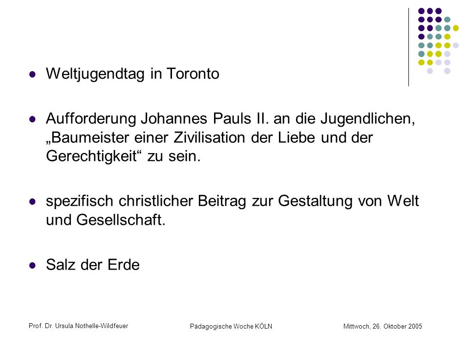 Weltjugendtag in Toronto