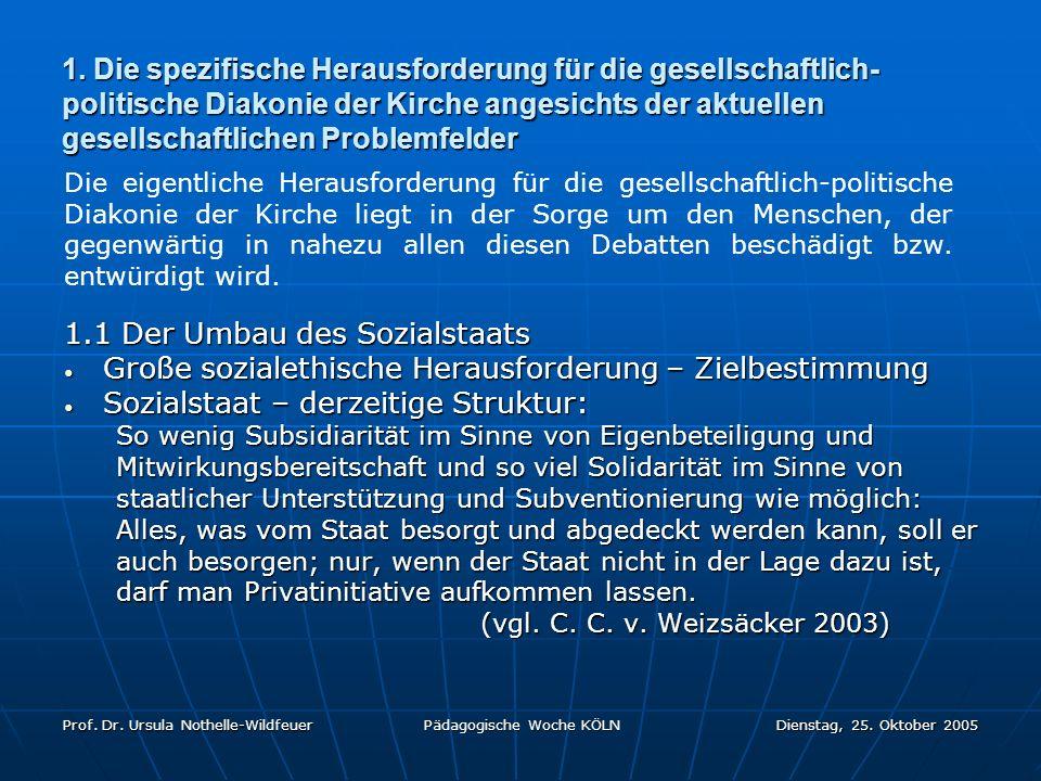 1.1 Der Umbau des Sozialstaats