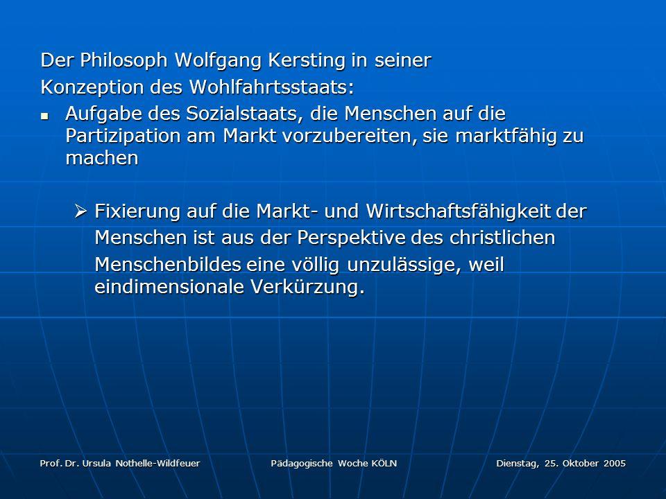 Der Philosoph Wolfgang Kersting in seiner