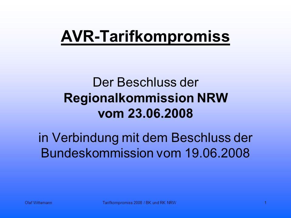 AVR-Tarifkompromiss Der Beschluss der Regionalkommission NRW