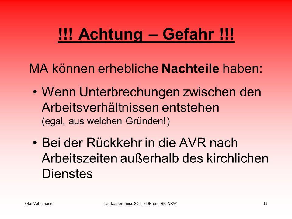Tarifkompromiss 2008 / BK und RK NRW