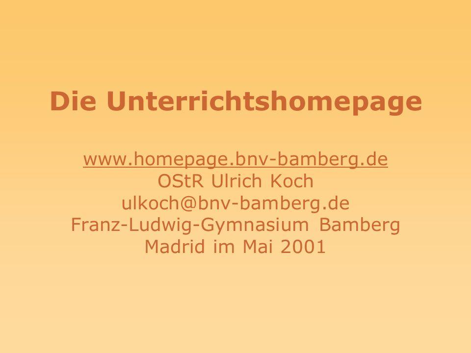 Die Unterrichtshomepage www. homepage. bnv-bamberg
