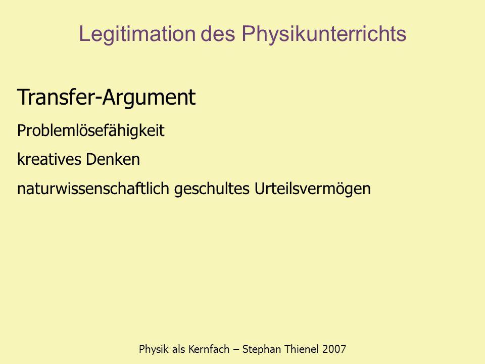 Legitimation des Physikunterrichts