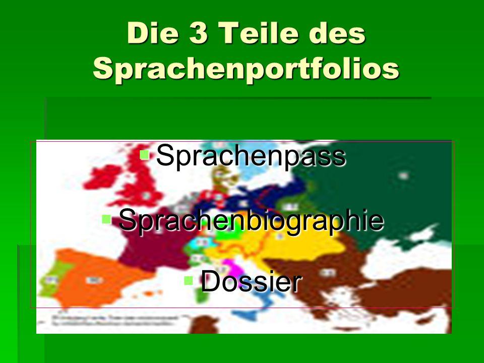 Die 3 Teile des Sprachenportfolios