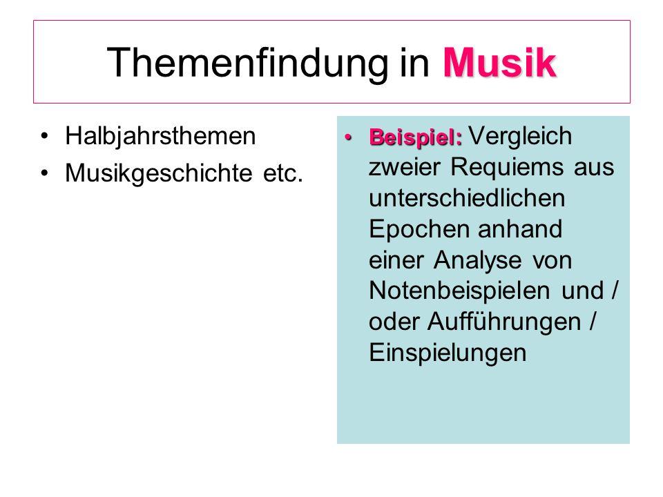Themenfindung in Musik
